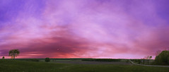 Smoke From the Meridian Boundary Fire, Missaukee County, MI (arrdubyazee2012) Tags: sunset sky panorama clouds landscape spring unitedstates michigan smoke seasonal photoeffect compositeimage weatheratmospherics
