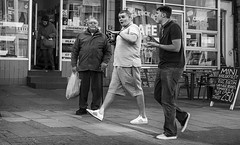 lytham road (streetstory) Tags: street uk england people urban blackandwhite bw monochrome canon photography mono places lancashire pancake 40mm blackpool socialdocumentary northernengland streetstory johnnydurham april2013 4tografie