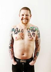 Wil-Hodgson-Tats-036 (Care Bear Punk) Tags: bear girls man beer girl ginger breasts punk nipples power geek madonna ska spice tattoos belly soul trojan northern chubby bearded skinhead moobs