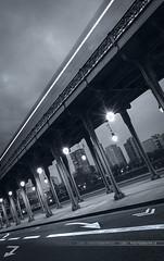 • Underground Bir Hakeim • (jubu photographie) Tags: bridge light cloud abstract paris cold night port underground blackwhite noiretblanc pont 5d nuage bâtiment dri hdr 1740 ponton birhakeim abstrait passerelle îlesaintlouis poselongue jubu 5dmk2