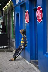 Mum is a bargain hunter  .... (Frank Fullard) Tags: street blue ireland red portrait irish galway shop waiting sale candid mum hunter bargain fullard frankfullard