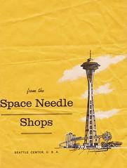 from the Space Needle Shops (hmdavid) Tags: seattle art illustration vintage bag advertising washington fair worlds shops spaceneedle 1960s 1962 seattlecenter midcentury
