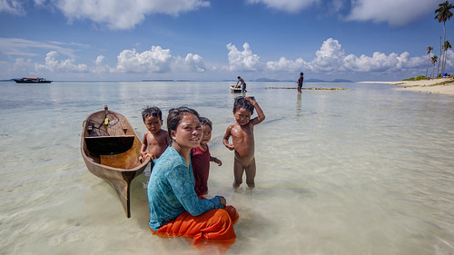 Bajau people on Sibuan Island