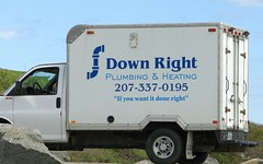Down Right Plumbing & Heating (Jacques Trempe) Tags: york advertising plumbing maine down right publicity heating publicite vehicule