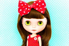 Melanie Roberts (DisneyColor) Tags: red sunlight anime color cute colors fashion japan contrast toy toys japanese bigeyes daylight colorful doll pretty dolls dress natural buttons vibrant greeneyes polkadots bow kawaii button blythe neo brunette minniemouse custom fashiondoll porcelain licca velvetminuet polkadot 12inch patience hasbro customs bighead sbl adg blythedoll neos blythes blythedolls ashtondrakegalleries takaratomy liccabody fashiondolls neoblythe neoblythes chantillylace 12inchdoll bargemann moofers keithbargemann 12inchdolls