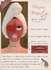 Mad' - VB - Steak Mask (La Bouchre) Tags: food male green beauty cheese female ads advertising poster salad yummy pub natural mesh release ad creative cream bio creme moustache lettuce creation secondlife steak eggs mustard patch mad care publicity unisex roquefort soin cosmetic gourmand mustach addon laboucherie antiage venusbeauty collagenbalm