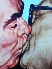 The Kiss (Antropoturista) Tags: berlin men germany graffiti kiss thewall eastsidegallery diemauer leonidbrezhnev erichhonecker