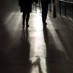 holding hands (donvucl) Tags: light london shadows silhouettes tatemodern squareformat holdinghands figures latesun donvucl