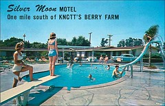 SILVER MOON MOTEL AT DISNEYLAND Los Angeles - Anaheim CA (1950sUnlimited) Tags: travel vacation tourism hotel interior lakes motel roadtrips villages cocktail postcards leisure roadside poolside resorts midcentury cottages swimmingpools lobbies golfcourses lounges