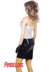 A-line skirt V-neck with glove (angeldisfashion) Tags: with skirt glove aline vneck