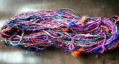 Sari silk yarn (LaWendeltreppe) Tags: silk yarn colourful