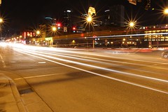 3rd Ave N (clint mcmahon) Tags: street longexposure light minnesota skyline canon lights spring lowlight downtown north streetphotography minneapolis headlights warehousedistrict mpls lighttrails stoplight 3rdavenue taillights thirdavenue downtownminneapolis lightstream northloop t4i canonefs18135mmf3556isstm