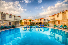 Hotel Calypso, Dalyan (Nejdet Duzen) Tags: trip travel vacation cloud holiday reflection pool turkey trkiye dalyan bulut tatil yansma havuz turkei seyahat mula hotelcalypso