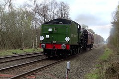 LNER B1 61306 Mayflower (Andrew Edkins) Tags: trees train geotagged sony suttoncoldfield loco locomotive mayflower steamtrain suttonpark lner freightline footcrossing 61306 5z21 videocamerastill railwayphotography tenderfirst thompsonb1 supportcoach streetlygate positioningmove
