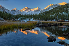 Good Morning ! (Sapna Reddy Photography) Tags: california morning snow mountains reflection sunrise reflections dawn lakes highsierras easternsierras