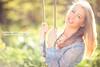 Swing Girl - Day 220/365 (Sasha L'Estrange-Bell) Tags: blue green smile spring bokeh sashabell oliviabell sashabellphotography tbsart