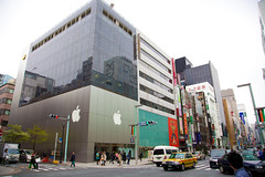 Apple Store in Ginza (camknows) Tags: buildings tokyo ginza applestore intersection stores