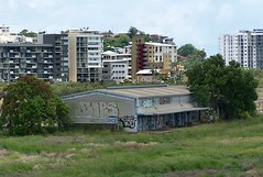 Southbank Site, Townsville (Oriolus84) Tags: city skyline buildings apartments shed australia cbd leighton highrises townsville devine railyards southyards southtownsville southbanktownsville