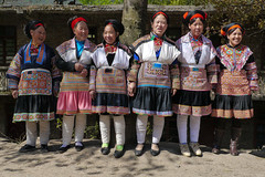Some ladies of the village ... (Rita Willaert) Tags: china handmade embroidery patchwork guizhou miao minority handwork minorities etnic traditionalclothing zuidwest minderheden bijie rodedraadmiao