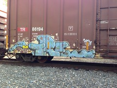 Tre (KingSquab) Tags: train graffiti tre freight deth nsf kult dklt treske uploaded:by=flickrmobile flickriosapp:filter=nofilter