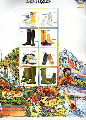The 1970s-1974 ad for Aigle rubber boots