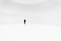 Lost in White (MW PiX) Tags: white man museum germany alone expo package allemagne blanc bigair oberhausen christo