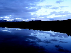 Mystical Scotland (shannonsimms) Tags: blue winter sky snow black mountains reflection beautiful clouds dark photography scotland scenery britain scottish mystical highands