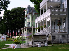 MI Mackinac Island Architecture Bay View B&B and Inn on Mackinac Porches DS 2012 (shutterbug816) Tags: architecture island bay inn view michigan victorian bb mackinac porches