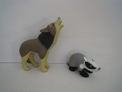 Wolf and Badger (ItalianToys) Tags: wood animal animals forest toy toys wolf badger animali animale bosco lupo foresta giocattoli lupi tasso giocattolo tassi