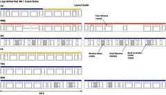 Mk 1 Coach Layouts (michaelgale) Tags: lego moc britishrail mk1 passenger coach trains