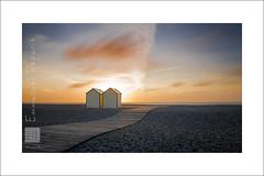 neighbor,  neighbor (Emmanuel DEPARIS) Tags: emmanuel deparis nikon d810 haut de france cayeux sur mer baie somme coucher soleil picardie cote dopale chalet cabine plage sable galet ciel