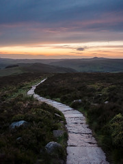 Roaches Darkness (matrobinsonphoto) Tags: roaches staffordshire cheshire peak district moorland moors moor shuttlingsloe roach end path track walk night sunset dusk evening summer heather light blue hour clouds sky calm dramatic landscape outdoors hills hill valley countryside