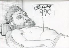 dead ch with headrest_2016 (JENS01) Tags: che guevara dead pencildrawing drawing bleistift zeichnen skizze zeichnung berlin fhain sketch