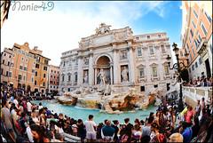 Fontaine de Trvi, Rome. (nanie49) Tags: trvi fontainedetrvi trevifountain rome roma italie italia italy capitale ville city cuidad nanie49 nikon d750 fisheye 105mm