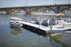Tempe Town Lake (p r a t y u s h 360 | PHOTO) Tags: canon5d3 outdoor tamron 45mm water bridge boat tempe arizona lake