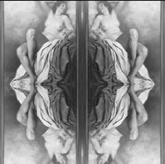 2016-08-19 symmetrical black and white paintings 2 (april-mo) Tags: symmetrical symmetry symtrie art blackandwhite nu nude woman womanportrait portrait