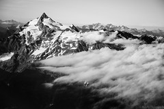 (kayters) Tags: aerial washington northcascades kaytedolmatchphotography kathleendolmatch nature birdseyeview landscape helicopter clouds moutains snow summer august pnw explore mtshuksan perspective outdoors blackandwhite