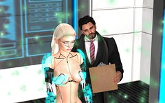 We Have The Technology To Rebuild Her (Close-up) (hausofgraphelle) Tags: hausofgraphelle secondlife sl avatar scifi fantasy mech cyborg prosthetics