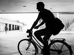 Tunnel Cycling. (John Bastoen) Tags: straatfotografie street streetphotography bicycle cycling tunnel silhouette
