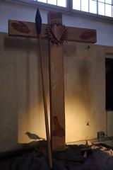 20160421-F (Heinrock) Tags: art bird church cross gamlastan kyrka panasoniclumixdmcgx1 sculpture stockholm sweden storkyrkan spear
