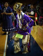 dancer 255 copy (queenbeaphoto@att.net) Tags: bymelissafrybeasley person people dancer regalia nativeyouth nativeamerican ndn roach beautiful iicotpowwowofchampions handsome purple tulsaoklahomaphotographers lifestylephotography eventphotography