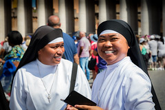 Nuns at the Vatican (King Grecko) Tags: 5dmk3 black canon canoneos5dmk3 catholic catholoicsm contrast faith italy lightroom nun nuns papafrancesca papal popefrances popefrancis religion religious roma rome shape stpeters thepope travel traveldestinations vatican vaticancity