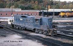 WM 5979 on 10-26-80 (C.W. Lahickey) Tags: wm emd gp9 connellsville