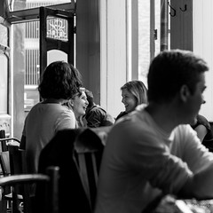 The Eagle, Farringdon Road (Paul Perton) Tags: 50 leicam9 leicasummilux50mmf14 london blackandwhite bw candid square street streetphotography urban