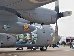 Lockheed C-130E Hercules (Nigel Musgrove-1.5 million views-thank you!) Tags: lockheed c130e hercules 4144 no 6 ats squadron pakistan air force paf base chaklala markings commemorate operation zarbeazb royal international tattoo raf fairford friday 8 july 2016 c130l100 operationzarbeazb pakistanairforce riat transport