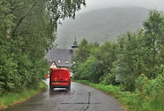 Post Van at Inversnaid Bunkhouse (brightondj - getting the most from a cheap compact) Tags: scotland trossachs van red postoffice church inversnaidbunkhouse inversnaid summer2016 holiday summerholiday uk britain ukholiday