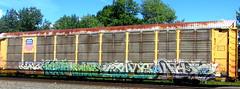 king157 - kepto - snuke - linus - diar '08 (timetomakethepasta) Tags: king king157 rtm kepto snuke sp southern pacific autorack union rusty tdr tmf lady dtc kyt freight train graffiti art