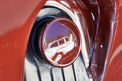 Gas Cap Reflection (adroach) Tags: jeep willys reflection gascap