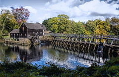 Philipsburg Manor, mill & dam (Bob Gundersen) Tags: bobgundersen robertgundersen gundersen nikon nikoncamera nikond600 d600 newyork ny tarrytown architecture building dam hydro outside outdoor old exterior historical historic water river reflection sleepyhollow interesting image photo picture places park landscape scenes shots scene tree clouds flickr explore