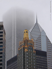 Chicago Buildings in Fog, 4 Oct 2015 (photography.by.ROEVER) Tags: chicago illinois usa 2015 october october2015 building architecture fog chicagoarchitecture skyscraper